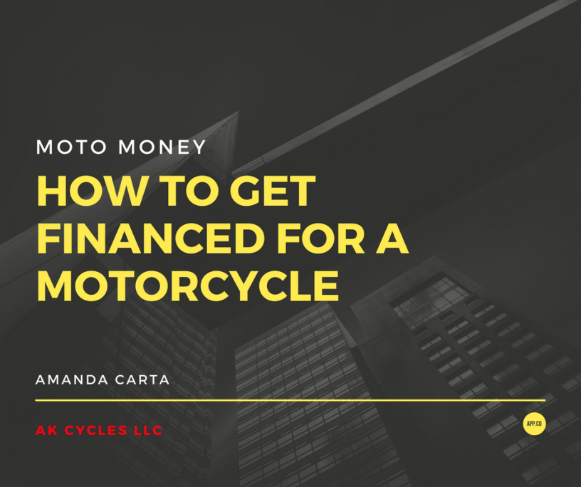 How to Get Financed for a Used Motorcycle